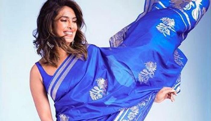 Nick says Priyanka looks 'stunning' in blue saree