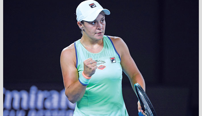 Barty, Williams into second round