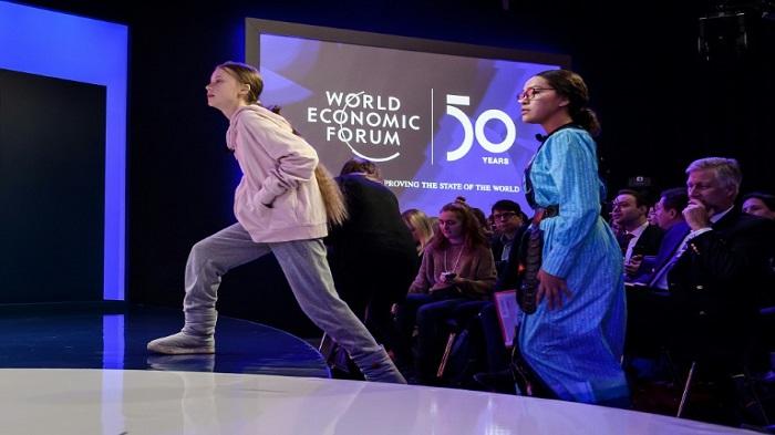 Thunberg slams climate change inaction as Davos awaits Trump