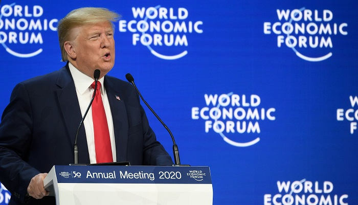 Trump calls impeachment trial 'disgraceful' and a 'hoax' in Davos