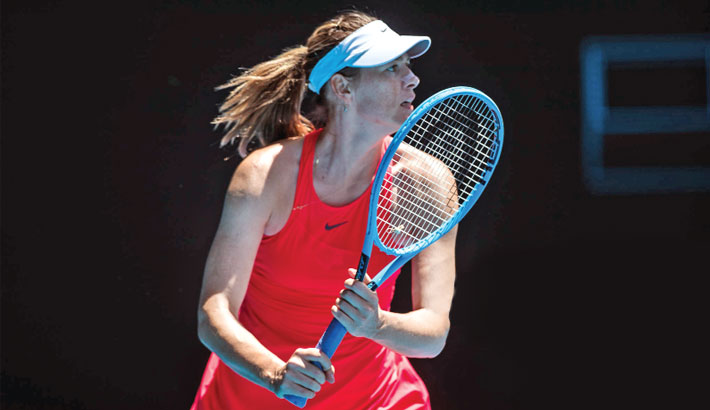 Sharapova hits all-time low, Nadal starts positive