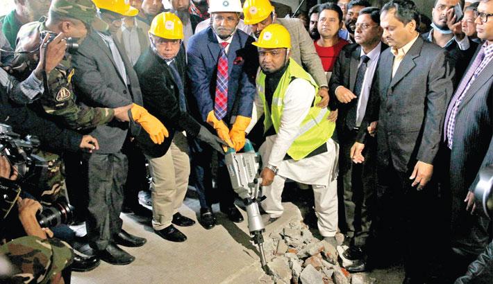 BGMEA building demolition starts