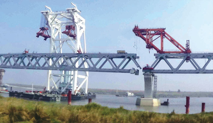 2,100 metres visible as 22nd span installed