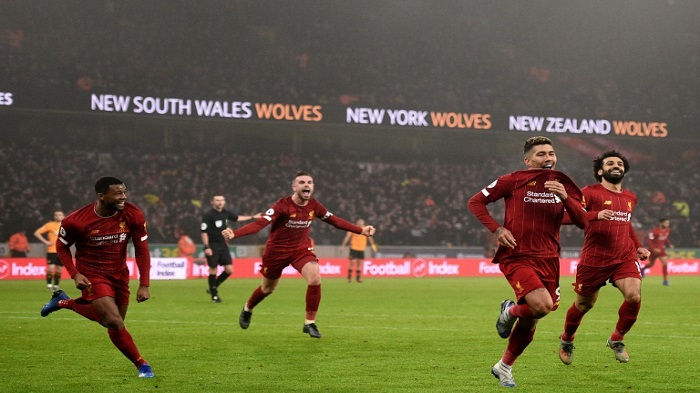 Firmino 'worldie' secures another late Liverpool win at Wolves
