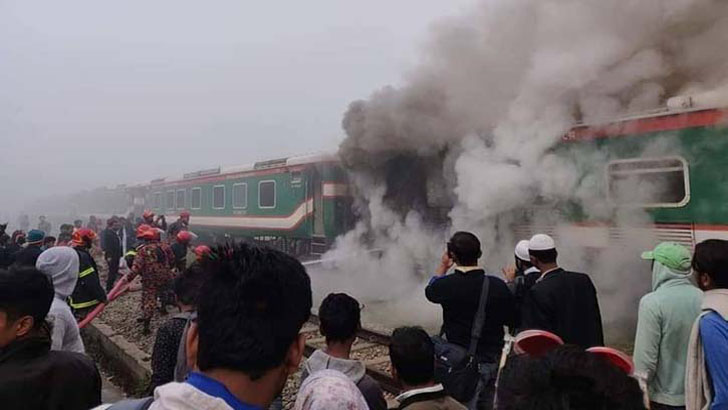 Fire at 'Parabat Express' train doused