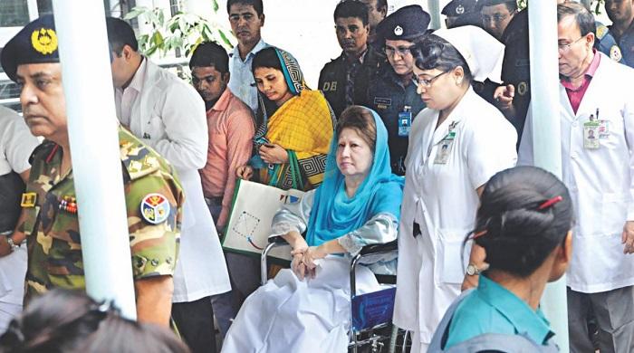 Family members at BSMMU to meet Khaleda Zia