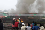 Man burnt as train catches fire in Brahmanbaria