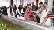 Sheikh Hasina, newly-elected AL leaders pay tributes to Bangabandhu in Tungipara