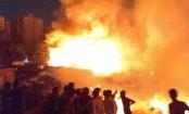 Slum catches fire in Chattogram