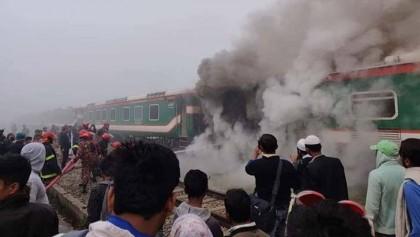 Fire at 'Parabat Express' train doused