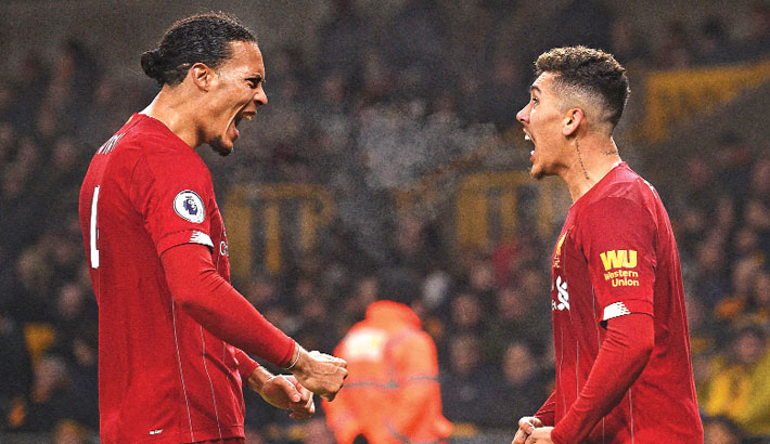Firmino secures Liverpool win at Wolves