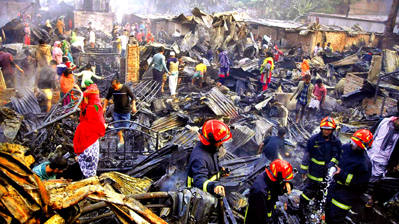 Chalantika slum fire victim dies at DMCH