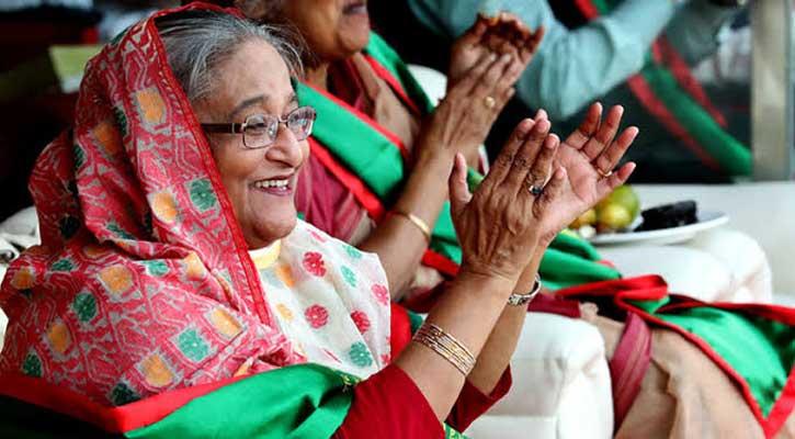 PM at stadium to watch Bangabandhu Gold Cup final