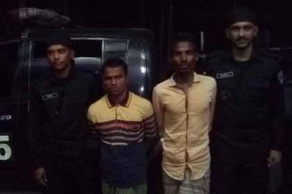 2 Rohingya men held with 79,500 Yaba in Teknaf
