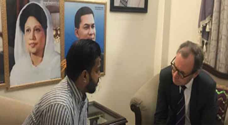 British High Commissioner meets BNP's candidate Ishraque at his residence