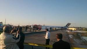 Iranian airliner skids into street; all 150 passengers safe