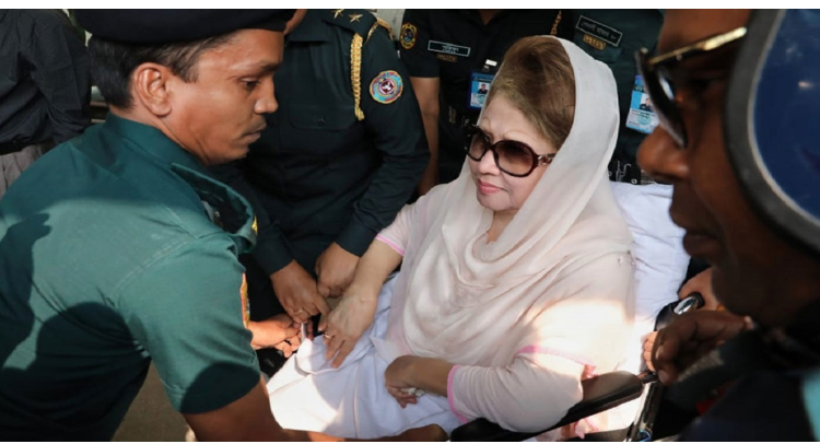 Khaleda's bail extended in two defamation cases