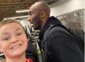 Last selfie with Kobe Bryant
