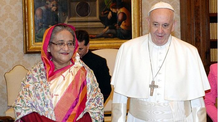 Pope Francis meets Sheikh Hasina