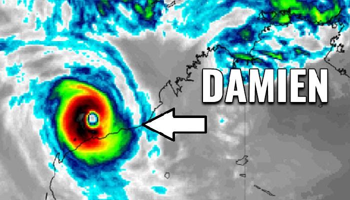 Cyclone Damien batters northwestern Australia
