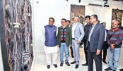 Kazi Salahuddin's solo art exhibition underway at AFD