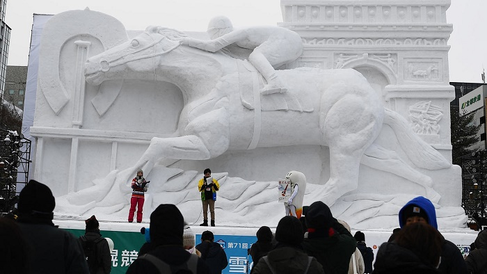 Snow problem for Japan's ice sculpture festival