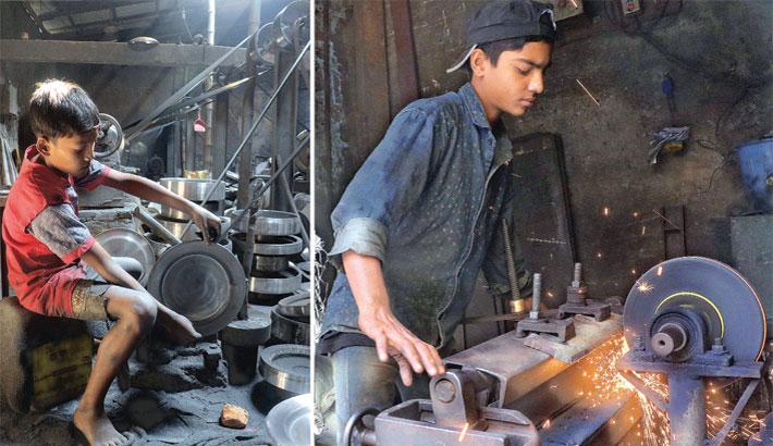 Children at risky jobs
