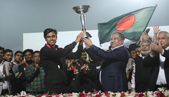 World champion U-19 cricketers to get Tk1 lakh each per month