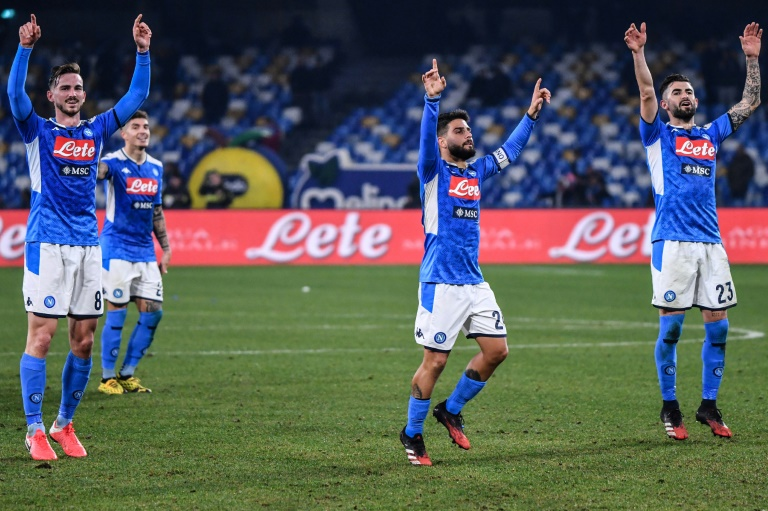 Napoli beat Inter Milan to close in on Italian Cup final