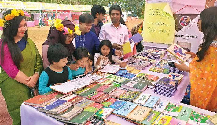 Amar Ekushey Book Fair on Begum Rokeya University campus