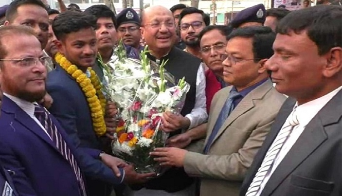 U-19 World Cup winning cricketer Mahmudul Hasan accorded reception