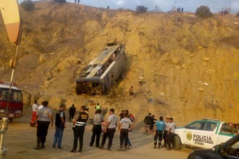 Eight football fans die in Peru road accident