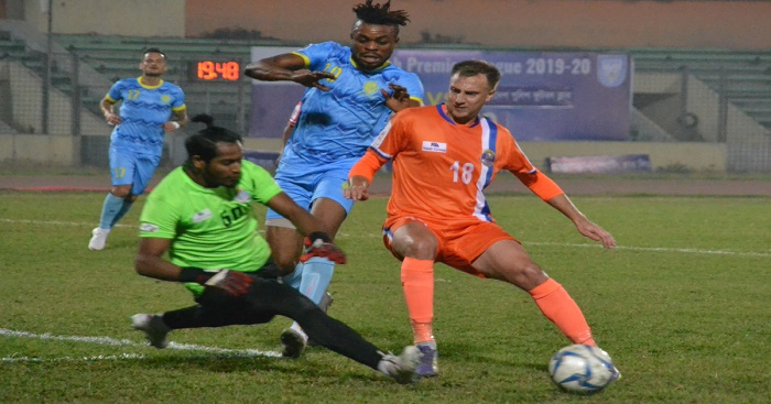 BPL Football: Dhaka Abahani make good start beating Police FC 2-0