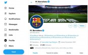 Barcelona's Twitter accounts hacked after team's league win