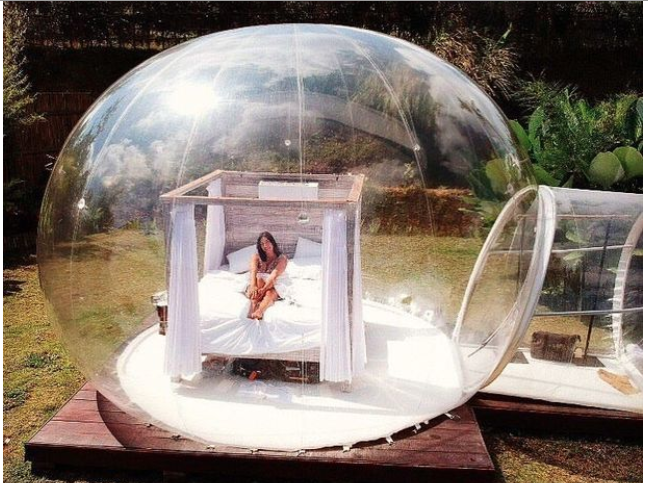 You can sleep under the stars in Bali's dreamy bubble pod