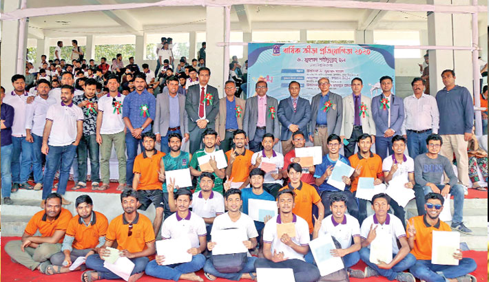 DU Shahidullah Hall's sports meet held