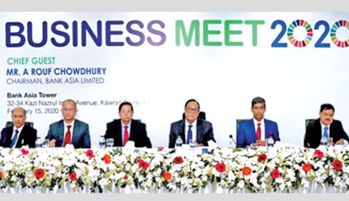 Bank Asia holds business review meeting