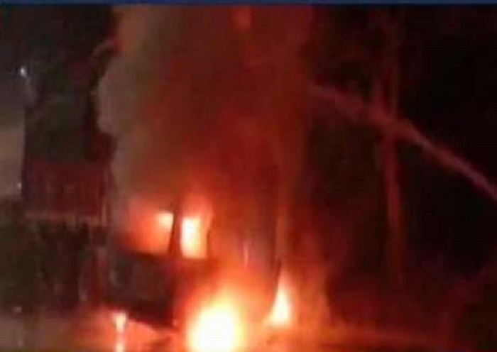 7 persons charred to death in road mishap in northern India