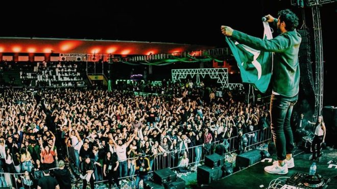 Solis: Pakistan music festival halted as hundreds storm venue
