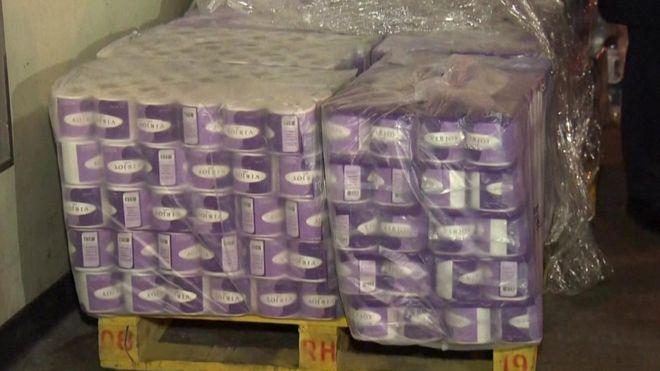 Coronavirus: Armed robbers steal hundreds of toilet rolls in Hong Kong