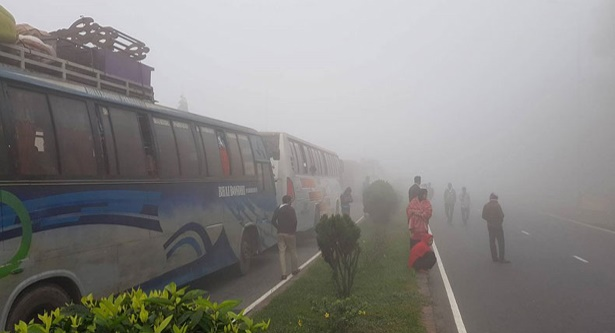Thick fog halts traffic on Bangabandhu Bridge