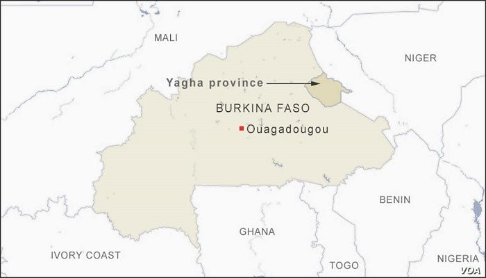 Gunmen kill 24 in attack near church in Burkina Faso