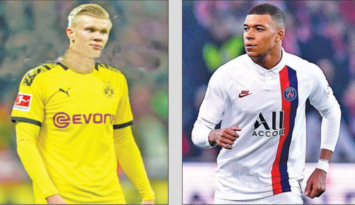 Haaland goes head-to-head with PSG star Mbappe
