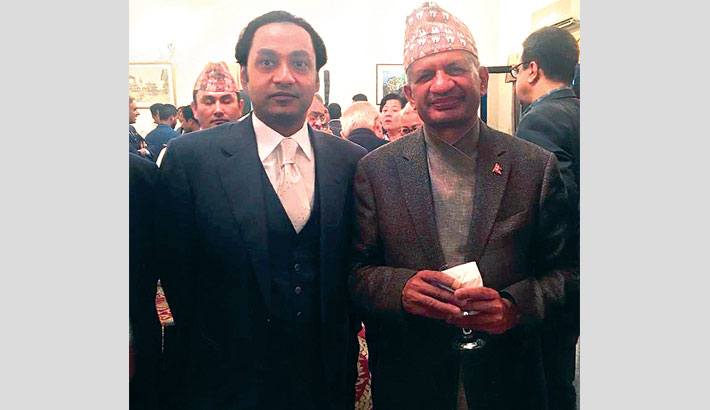 Nepal Embassy  hosts reception