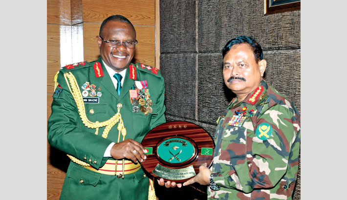 Commander of Zambia Army calls on Army chief
