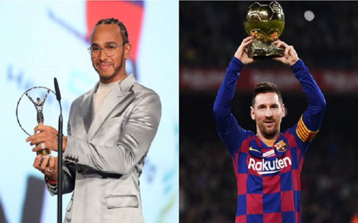 Hamilton, Messi share men's Laureus award
