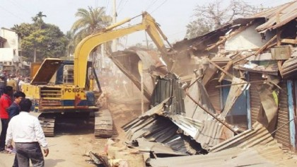 500 structures removed from railway land in Jashore