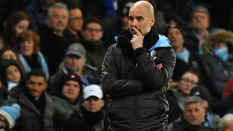 Guardiola takes swipe at Barca over Man City's Euro ban