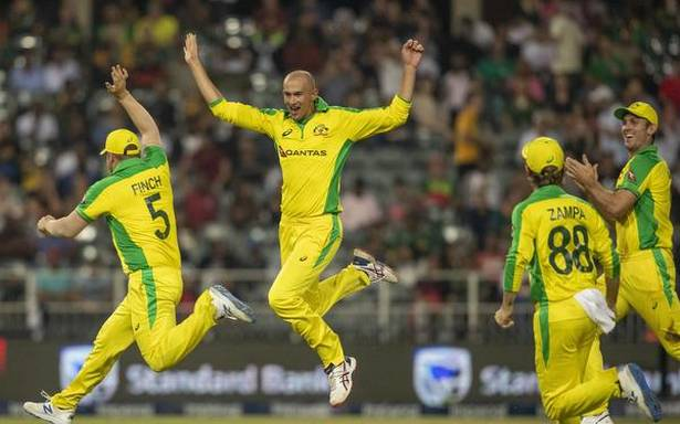 Agar hat-trick as Australia rout South Africa by 107 runs