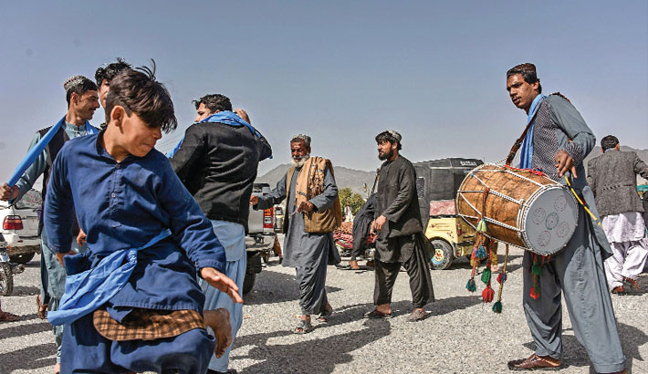Afghans mark start of week-long partial truce